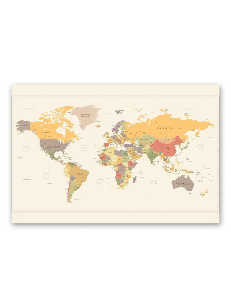 Vintage Style World Map Poster -Image by Shutterstock