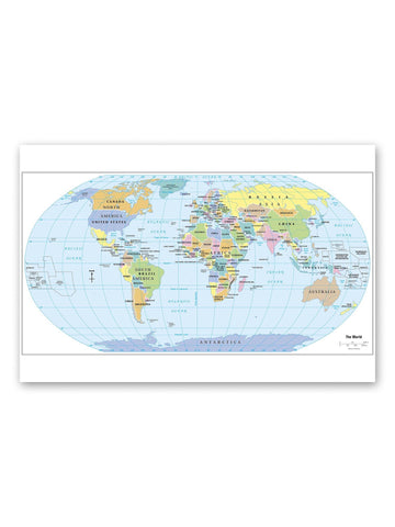 2012 World Political Map  Poster -Image by Shutterstock