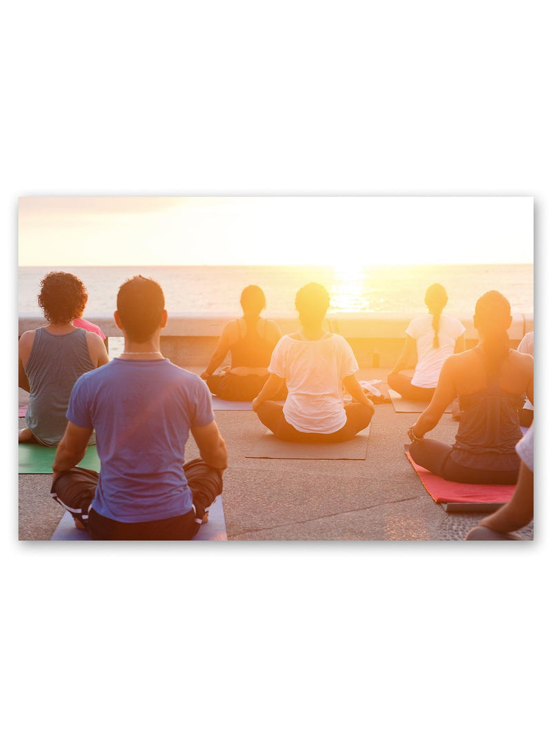 Sunset Yoga Poster -Image by Shutterstock