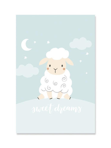 Adorable Baby Sheep: Sweet Dream Poster -Image by Shutterstock