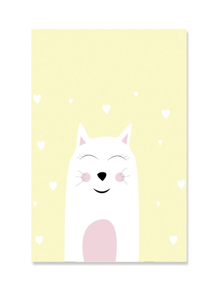Cute Cat Nursery Animal Poster -Image by Shutterstock