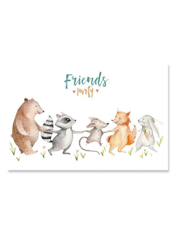 Forest Nursery Animals: Friends Poster -Image by Shutterstock