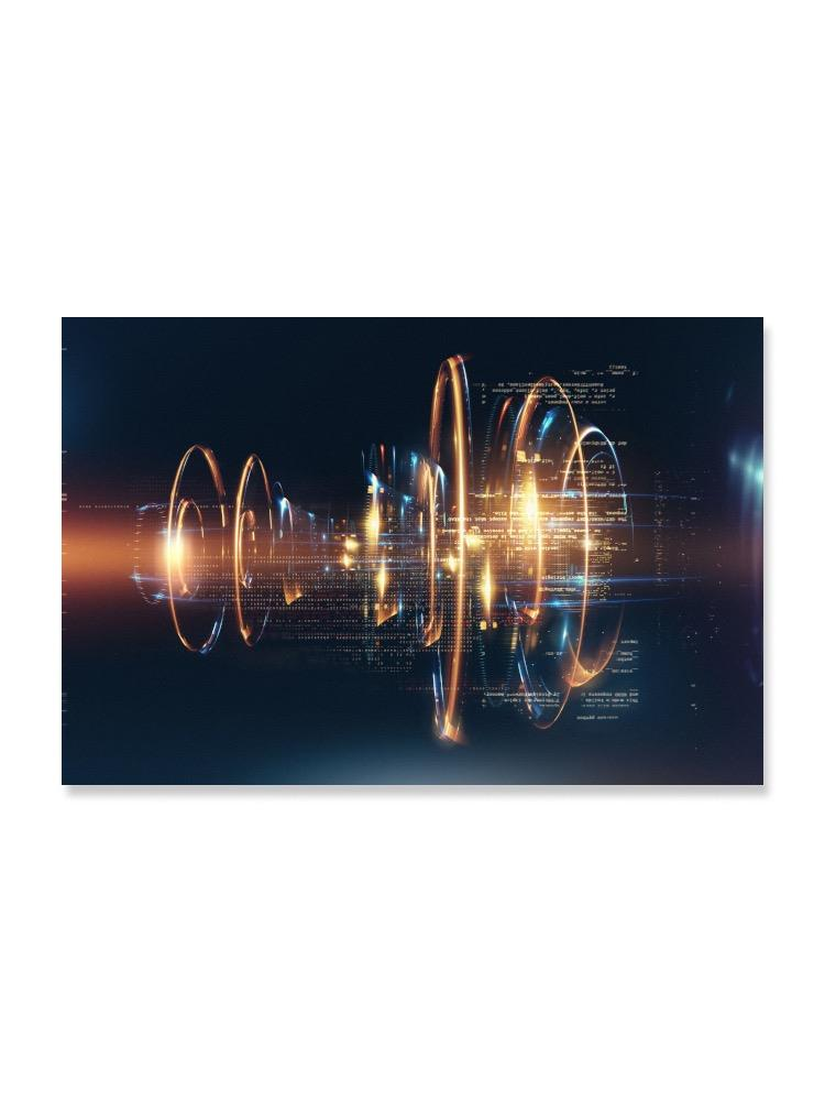 Futuristic Technology Lights Poster -Image by Shutterstock