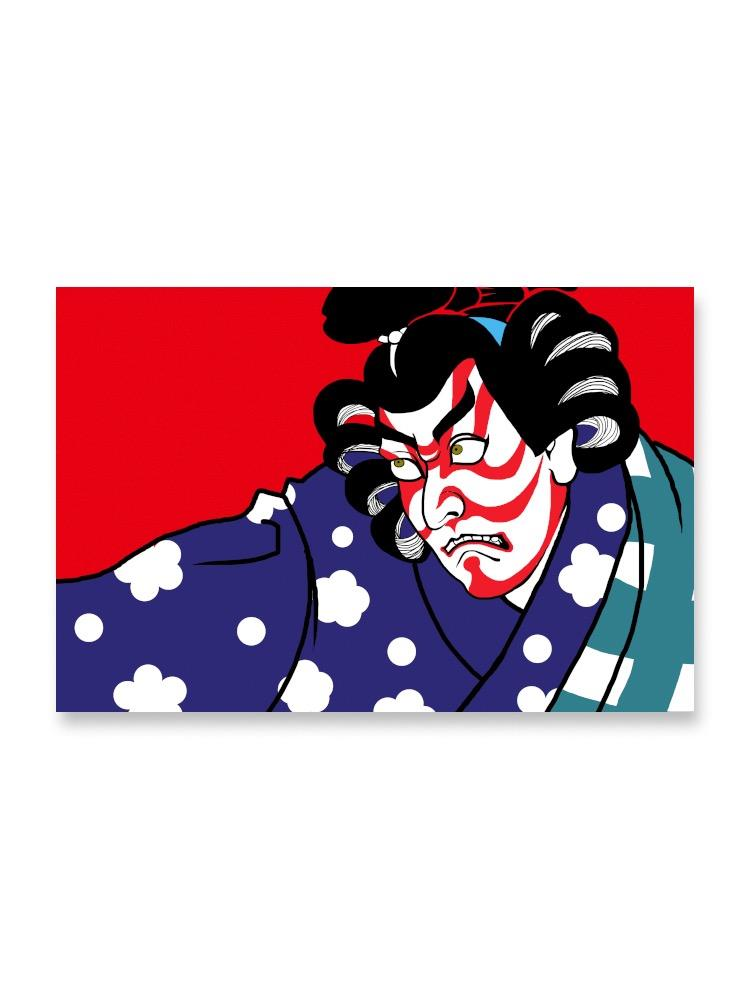 Kabuki Style Design Of Man Poster -Image by Shutterstock