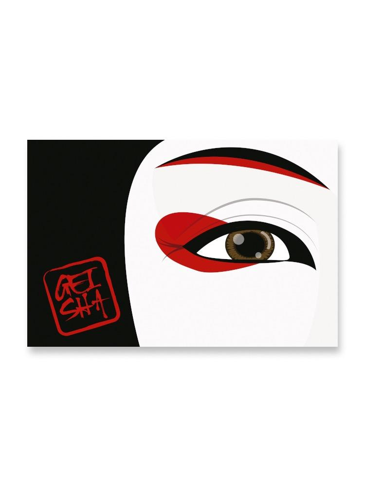 The Eye Of A Geisha Design Poster -Image by Shutterstock