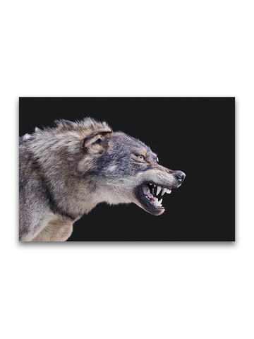 Amazing Wolf Taxidermy Poster -Image by Shutterstock