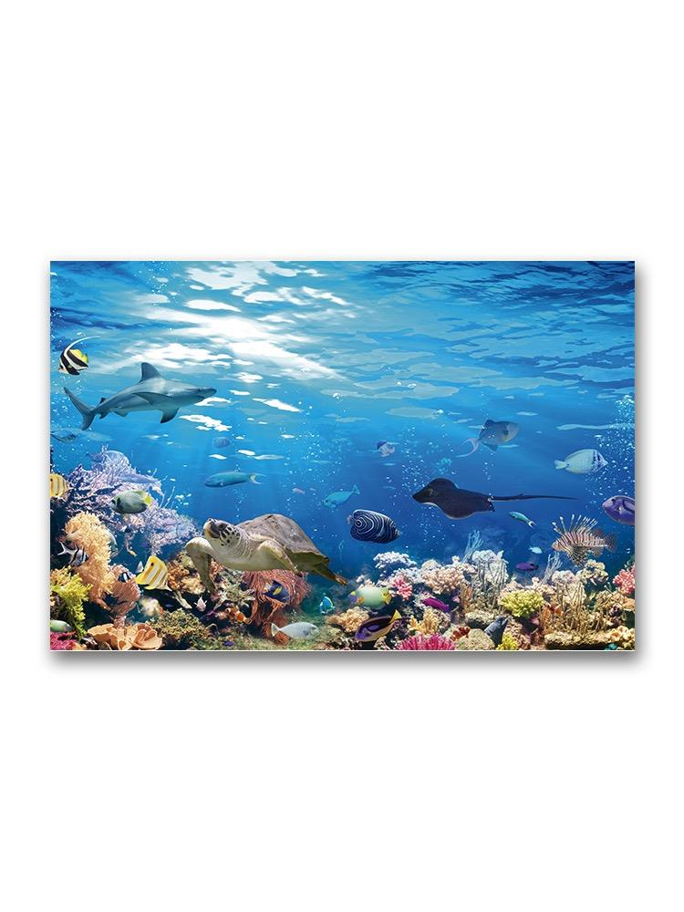 Incredible Underwater Scene Poster -Image by Shutterstock
