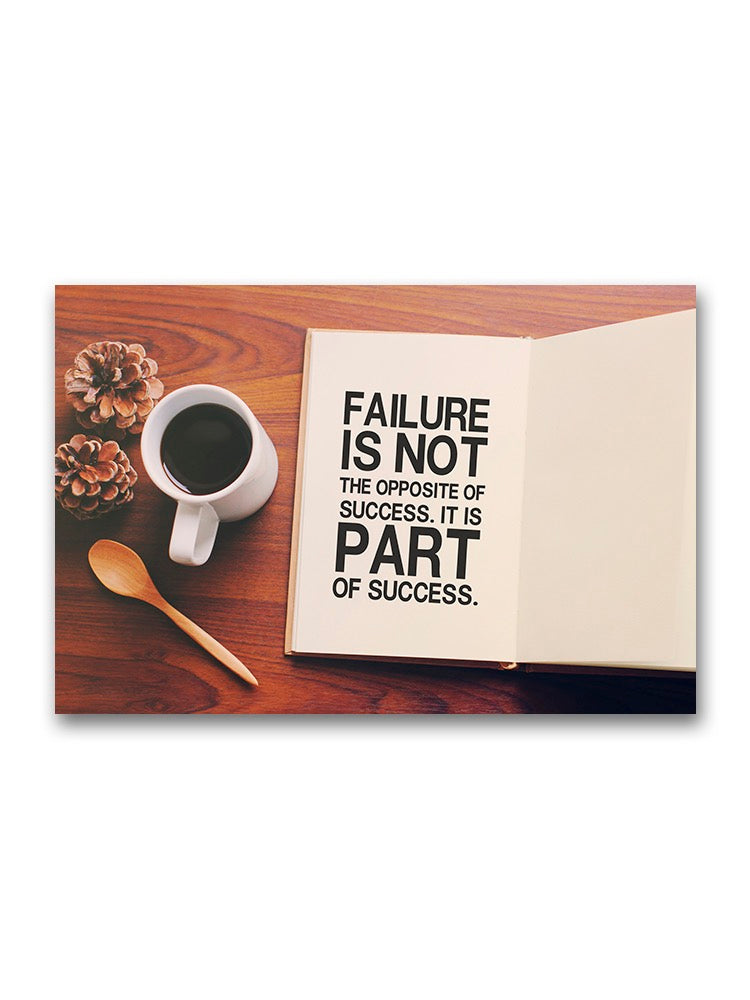 Failure, Part Of Success Poster -Image by Shutterstock