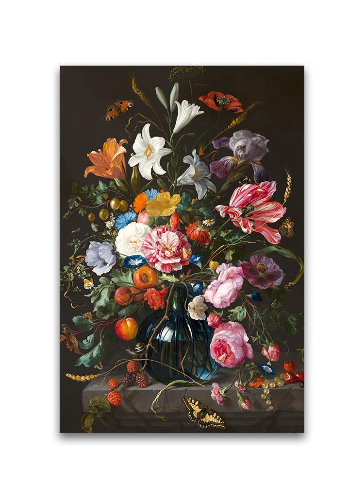 Colorful Flowers Oil Painting Poster -Image by Shutterstock