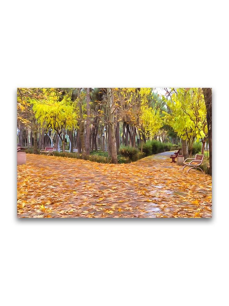 Fallen Autumn Leaves Inc Ity Poster -Image by Shutterstock