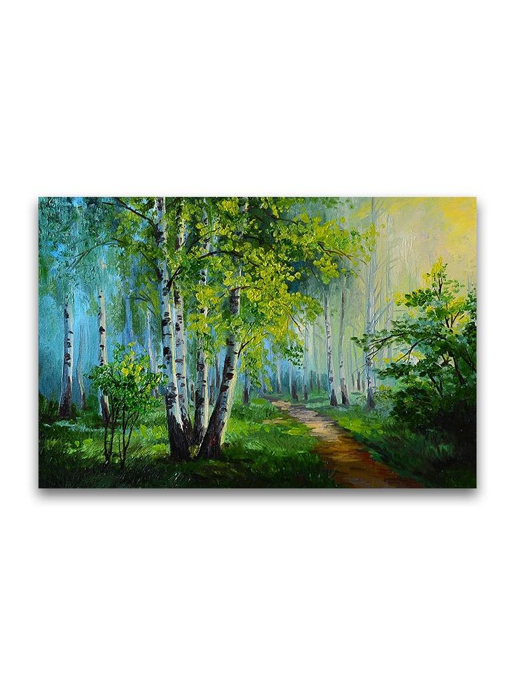 Oil Painting Forest Landscape Poster -Image by Shutterstock