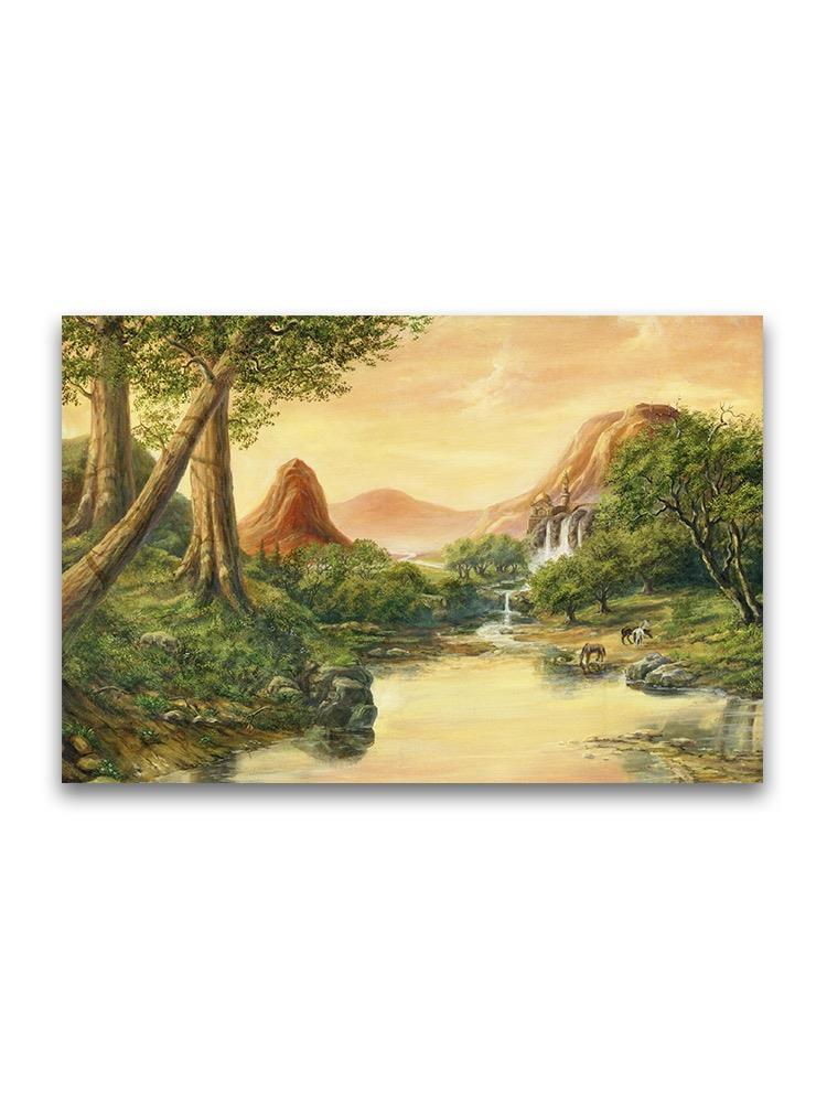 Sunset Natural Landscape Oil  Poster -Image by Shutterstock