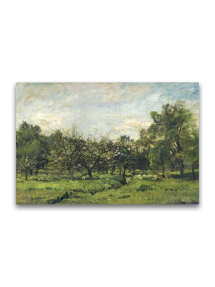 Orchard Landscape Oil Painting Poster -Image by Shutterstock