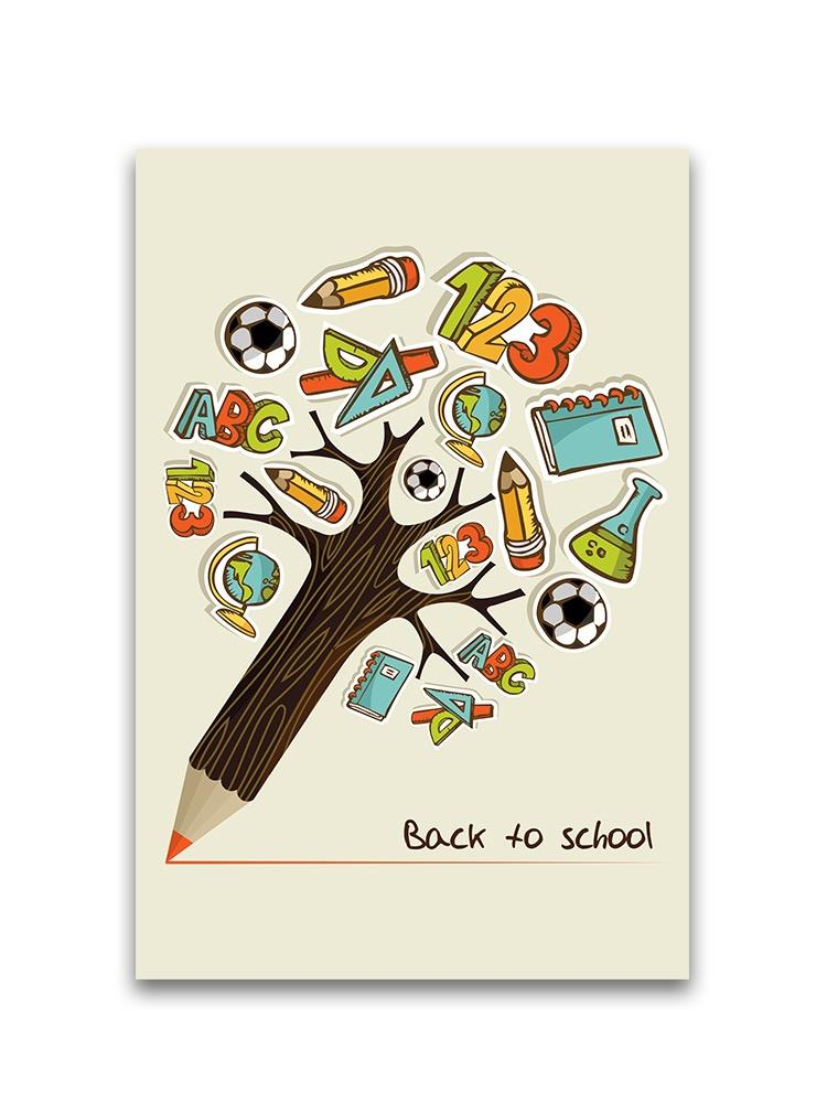 Back To School Untensil Tree Poster -Image by Shutterstock