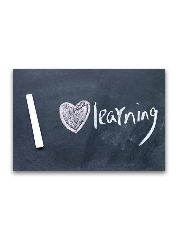 I Love Learning Poster -Image by Shutterstock