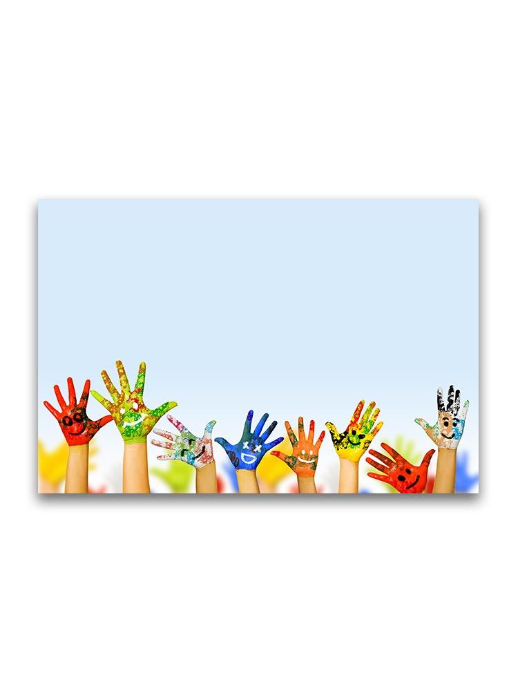 Paint Colored Hands Poster -Image by Shutterstock