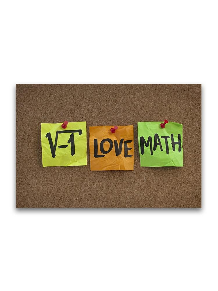 -i Love Math Poster -Image by Shutterstock