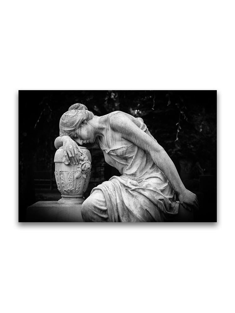 Sad Woman Sculpture Poster -Image by Shutterstock