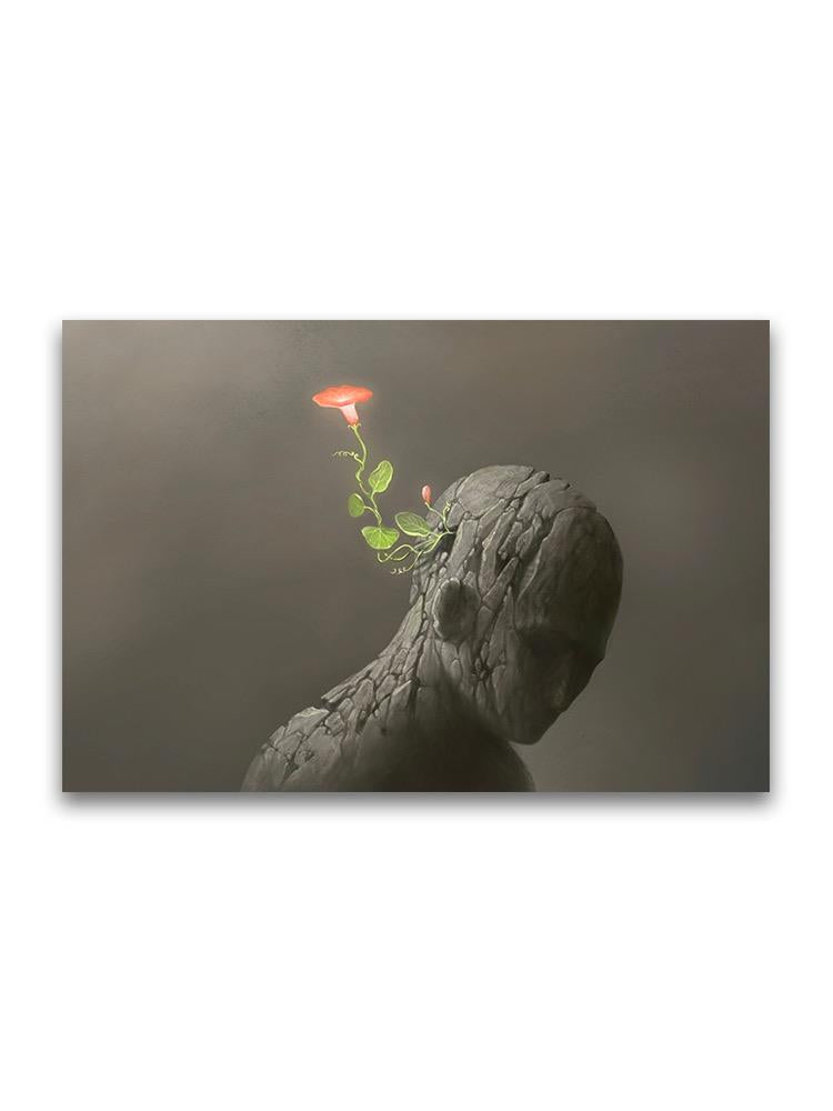 Red Flower On Broken Human Poster -Image by Shutterstock