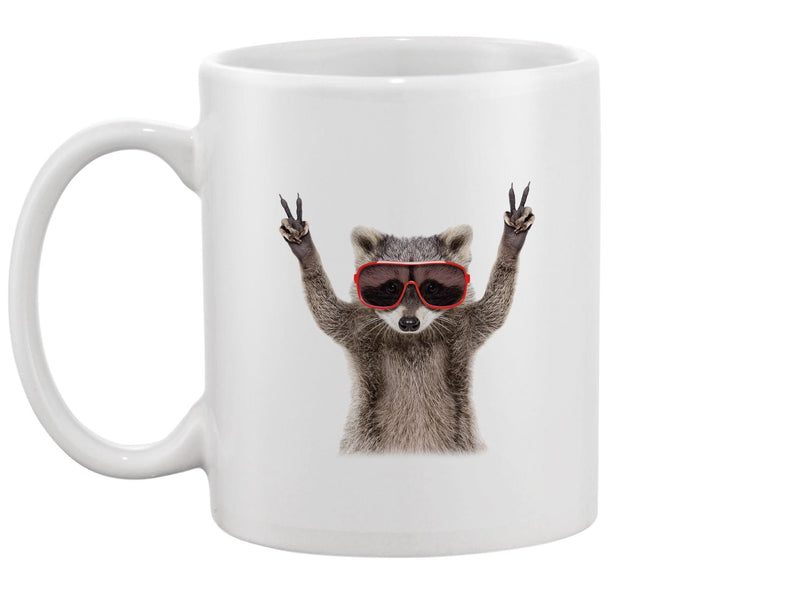 Funny Raccoon In Sunglasses Mug -Image by Shutterstock