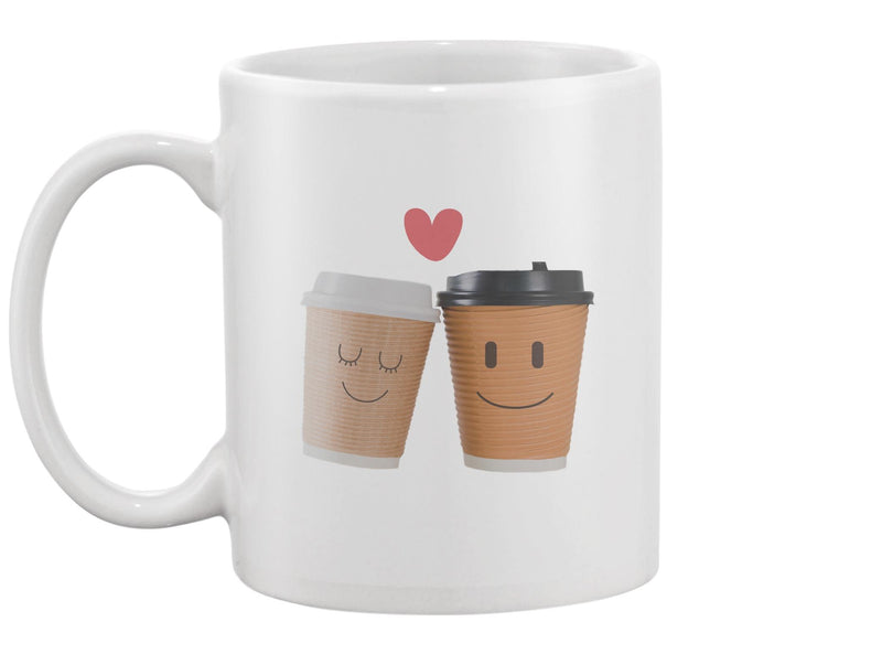 Two Coffee Cups Together  Mug -Image by Shutterstock