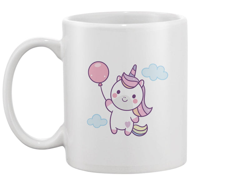 Cute Unicorn Holding Balloon Mug -Image by Shutterstock