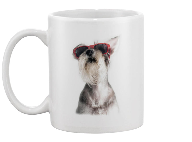 Schnauzer With Glasses Mug -Image by Shutterstock