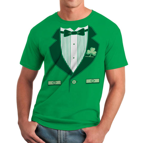 Funny Irish Green Tuxedo St Patrick's Day Men's T-shirt