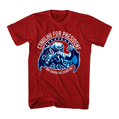 Cthulhu For President Why Choose Lesser Evil Men's T-shirt