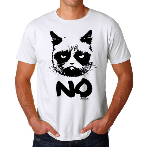 Grumpy Cat Grumpy No Men's White T-shirt