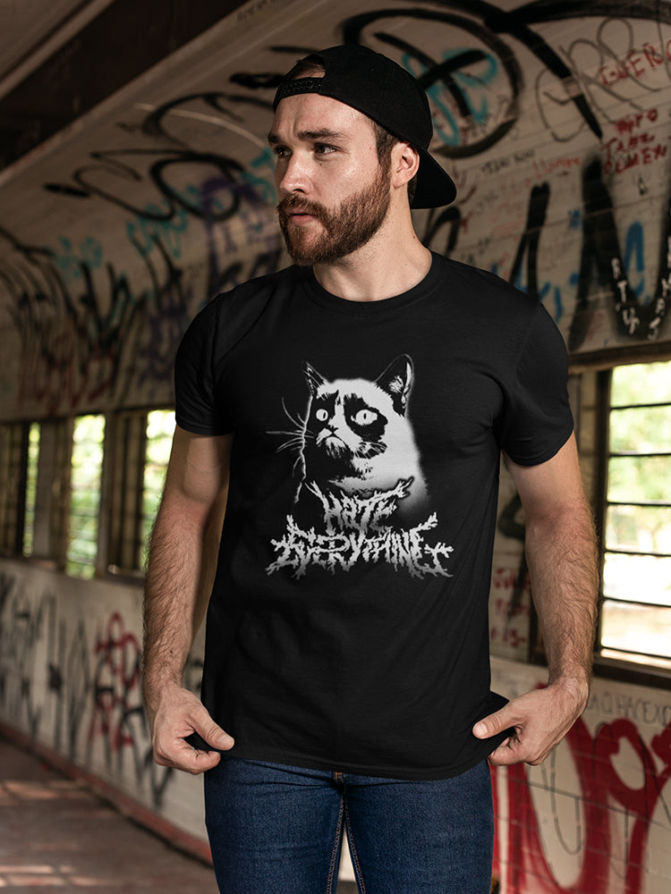 Grumpy Cat Metalcore Men's Black T-shirt