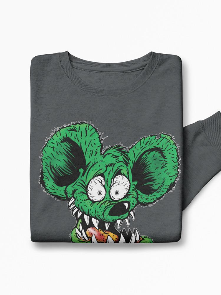 Rat Fink Creepy Face Sweatshirt Men's -T-Line Designs