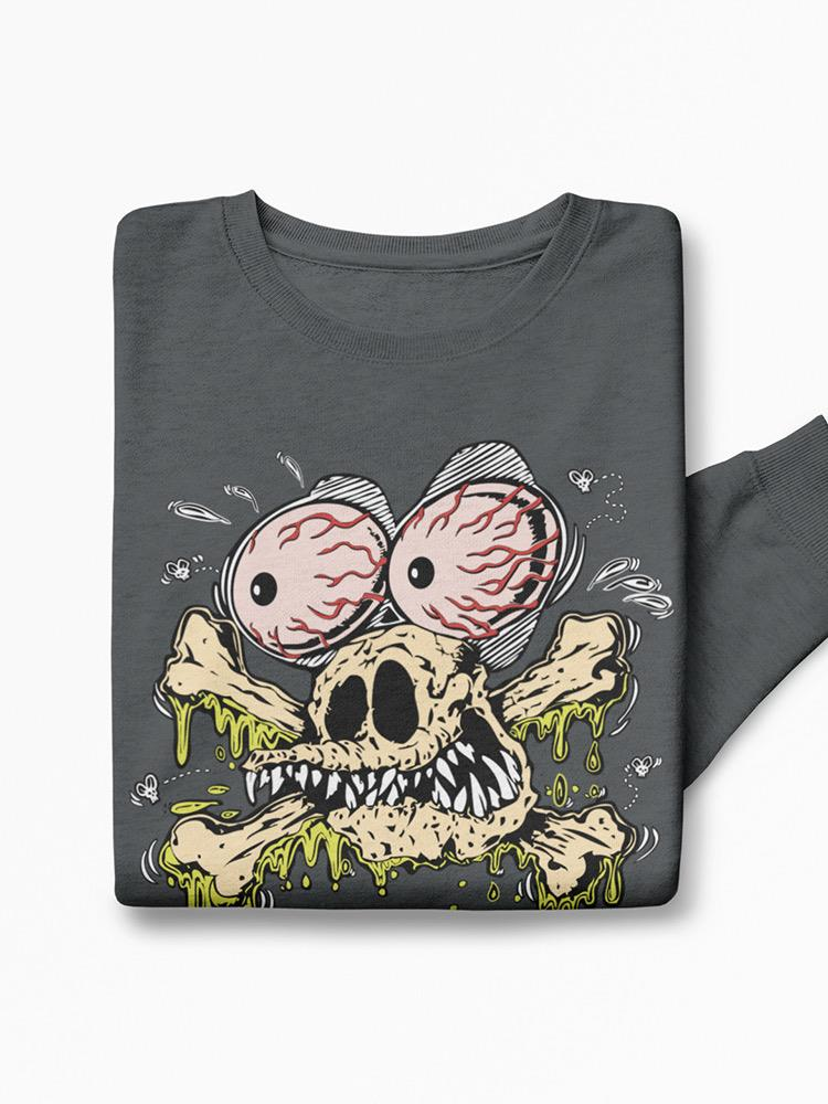 Rat Fink Bulging Eyes And Bones Sweatshirt Men's -T-Line Designs