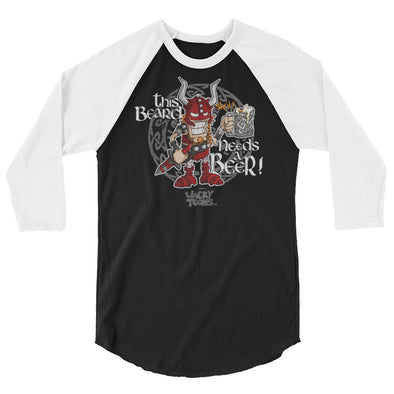 Beard needs Beer raglan shirt