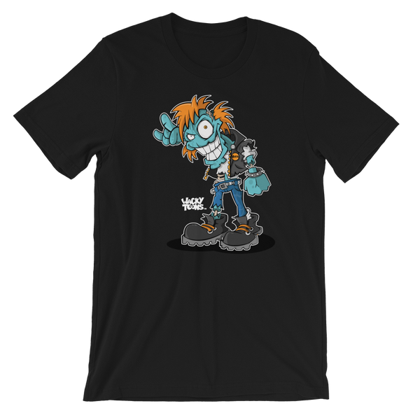 Punk Rock Zombie Single Toon T-Shirt
