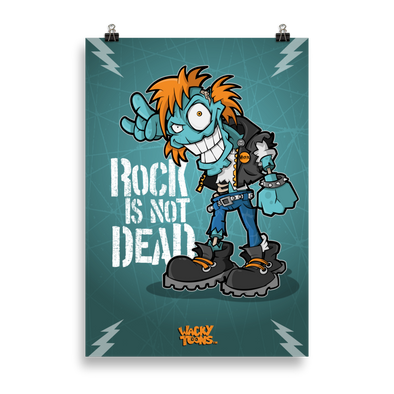 Rock is not Dead Zombie Poster