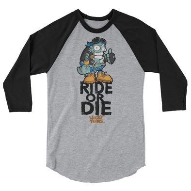 Ride or Die zombie raglan shirt