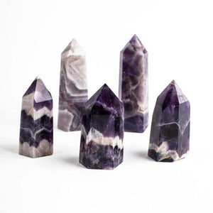 Natural Dream Amethyst Point | Tower | Wand - Healing Crystal