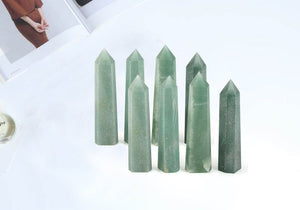 Aventurine Point | Tower | Wand - Healing Crystal