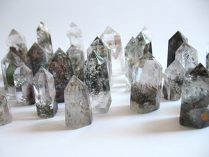 Natural Phantom Quartz Point | Tower | Wand - Healing Crystal