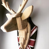 Stag Head (natural)- Handmade from reclaimed timber