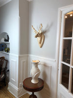 STAG HEAD Wall Mounted - Hand Crafted - Natural Stag- Faux Deer Wall Mounted - Wall Art - Animal Wall Decor & Art