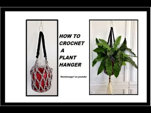 HOW TO CROCHET A PLANT HANGER, Home Decor, Crochet for the Home HOW TO MAKE A TASSEL: ...