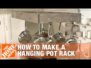 Learn the steps to take when developing a hanging pot rack for your kitchen