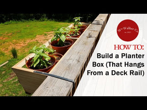 In this tutorial I show you how to build a planter box, to hang off of a deck railing, made out of Cedar and steel