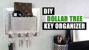 dollartree #dollartreediy #homedecor It's another Dollar Tree DIY home decor project! I wanted to replace our key bowl that sat on our countertop with a wall ...