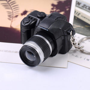 LtrottedJ Newly Hot Cute Mini Toy Camera Charm Keychain, With Flash Light&Sound Gift (Black)