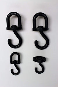 Hook/Hanger, Swivel, Plastic, 4 pc Assortment