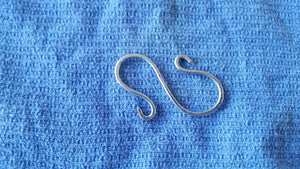 Hand Forged Galvanized Steel S Hooks ( set of 4)