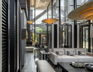 Soaring over the Taipei skyline, two chic new towers are home to luxurious residences and communal spaces extraordinaire